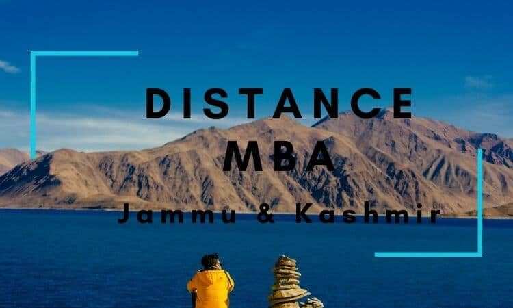 Distance MBA Options in Jammu & Kashmir