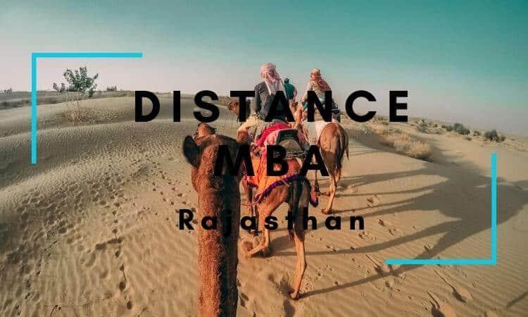 Distance MBA Options in Rajasthan